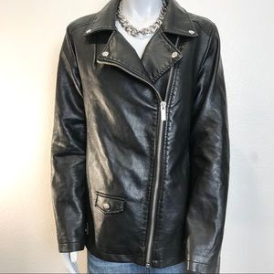 FOREVER 21 Faux Leather Moto Style Jacket